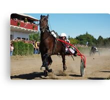 Trotting races Canvas Print
