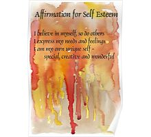 Affirmation for SELF-ESTEEM Poster