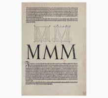 Measurement With Compass Line Leveling Albrecht Dürer or Durer 1525 0123 Alphabet Letters Calligraphy Font Baby Tee