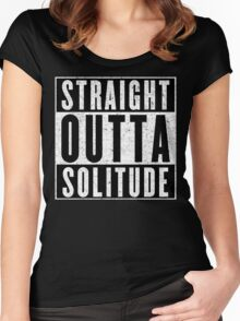 Adventurer with Attitude: Solitude Women's Fitted Scoop T-Shirt