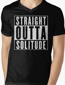 Adventurer with Attitude: Solitude Mens V-Neck T-Shirt