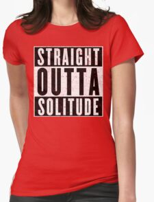 Adventurer with Attitude: Solitude Womens Fitted T-Shirt