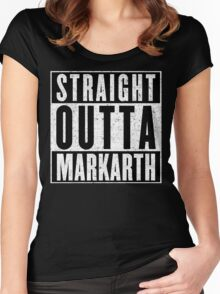 Adventurer with Attitude: Markarth Women's Fitted Scoop T-Shirt