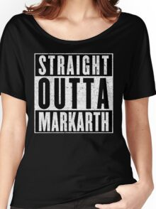 Adventurer with Attitude: Markarth Women's Relaxed Fit T-Shirt