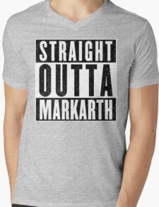 Adventurer with Attitude: Markarth Mens V-Neck T-Shirt