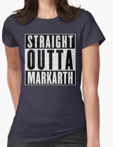Adventurer with Attitude: Markarth Womens Fitted T-Shirt