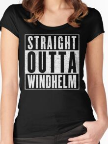 Adventurer with Attitude: Windhelm Women's Fitted Scoop T-Shirt