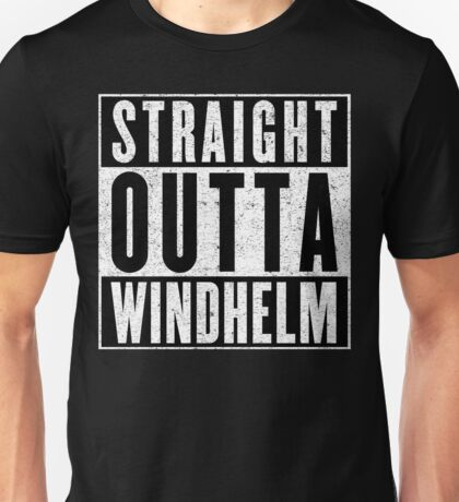 Adventurer with Attitude: Windhelm Unisex T-Shirt