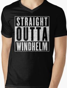 Adventurer with Attitude: Windhelm Mens V-Neck T-Shirt