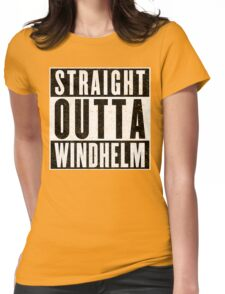 Adventurer with Attitude: Windhelm Womens Fitted T-Shirt