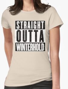 Adventurer with Attitude: Winterhold Womens Fitted T-Shirt