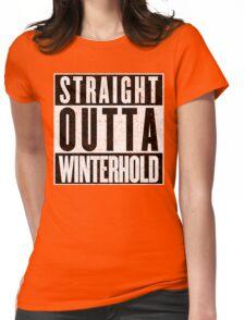 Adventurer with Attitude: Winterhold Womens Fitted T-Shirt