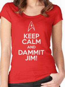 Keep Calm and Dammit Jim! Women's Fitted Scoop T-Shirt