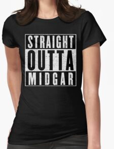 Midgar Represent! Womens Fitted T-Shirt