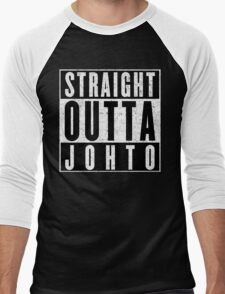 Trainer with Attitude: Johto Men's Baseball ¾ T-Shirt