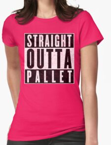 Trainer with Attitude: Pallet Town Womens Fitted T-Shirt