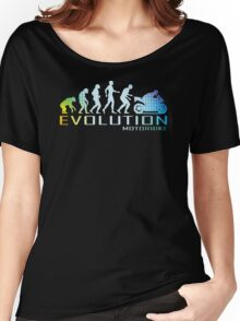 Motorcycle Ape To Evolution Women's Relaxed Fit T-Shirt