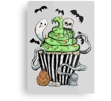 Gothic Cupcake  Metal Print