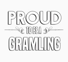 Proud to be a Gramling. Show your pride if your last name or surname is Gramling Kids Clothes