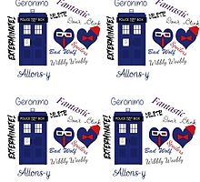 Repeating Tardis and Words! by Heather Kean