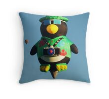 Camera Penguin !  Throw Pillow