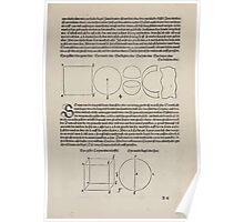 Measurement With Compass Line Leveling Albrecht Dürer or Durer 1525 0009 Shapes Poster