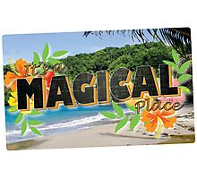 Its a Magical Place - Agents of Shield - Vintage Postcard Photographic Print