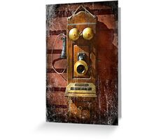 Steampunk - Phone Phace  Greeting Card