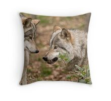 A little Trouble Brewing! Throw Pillow