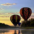 Balloon River Flight by Gary Smith