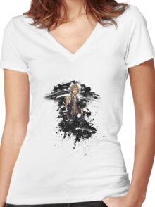 Avatar of Shadow 04 Women's Fitted V-Neck T-Shirt