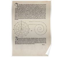 Measurement With Compass Line Leveling Albrecht Dürer or Durer 1525 0023 Spiral Poster