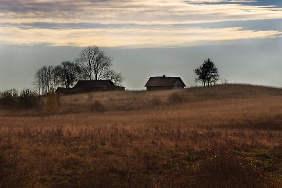 Lonely  homestead (Autumn 2010) by Antanas