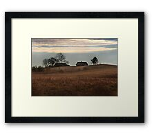 Lonely  homestead (Autumn 2010) Framed Print