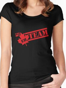 The Eh Team  Women's Fitted Scoop T-Shirt
