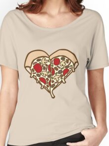 Pizza Heart Women's Relaxed Fit T-Shirt