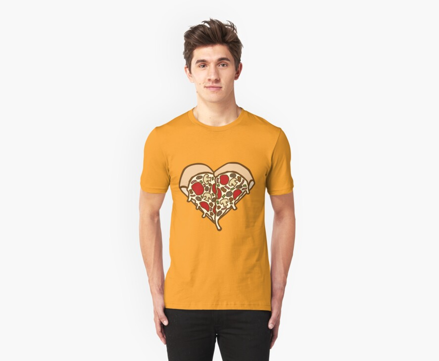 Pizza Heart by DetourShirts