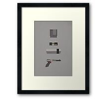 8-Bit love (NES) Framed Print