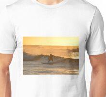 Surfer at dawn Unisex T-Shirt