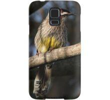 Young Adult Red Wattle Bird in Jacaranda Samsung Galaxy Case/Skin