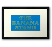 Money in the Banana Stand. Framed Print