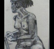 Girl in the nude by XStina