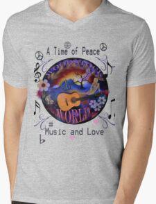 Woodstock World Mens V-Neck T-Shirt