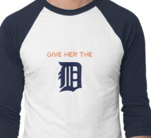 Give Her The D - Detroit Orange Men's Baseball ¾ T-Shirt