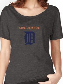 Give Her The D - Detroit Orange Women's Relaxed Fit T-Shirt