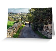 Lets Go For A Walk Greeting Card