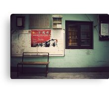 China : In the streets of Shanghai Canvas Print