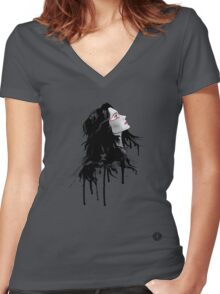 looking up Women's Fitted V-Neck T-Shirt