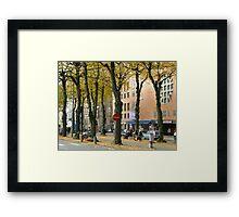 Streetview gothenburg Framed Print