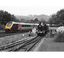 Trains, new vs old Photographic Print